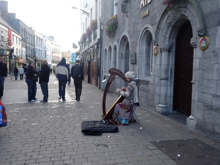 Busker in Galway City